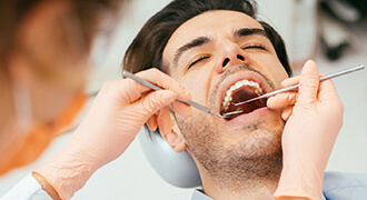 Tyler dental patient undergoing root canal treatment