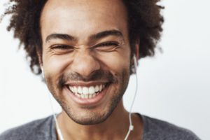 man with perfect teeth smiling